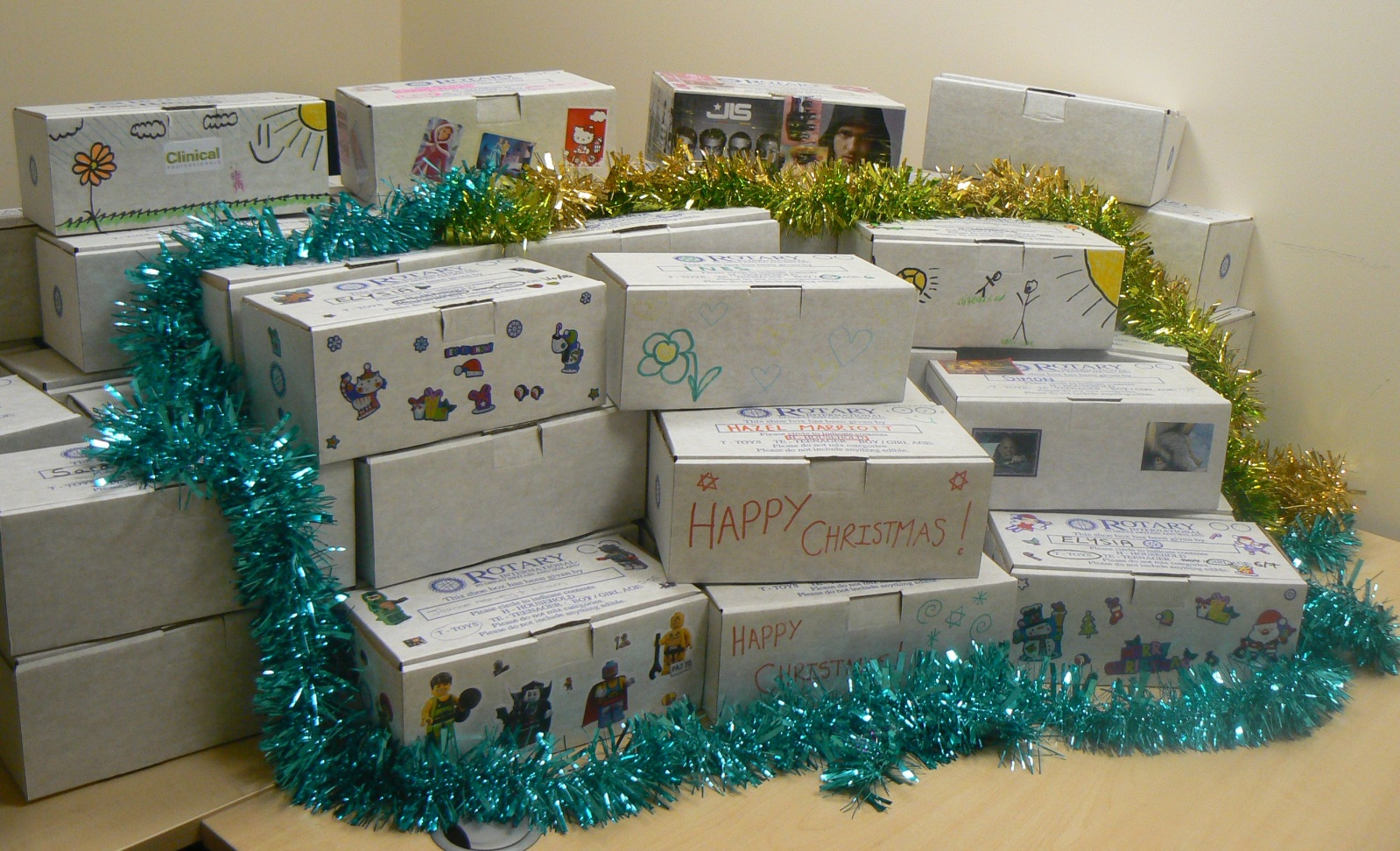 Clinical Professionals Donate 59 Boxes to the Rotary Shoebox Scheme